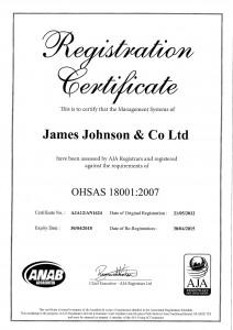 ISO 8001 Expiry Date 30-04-2018