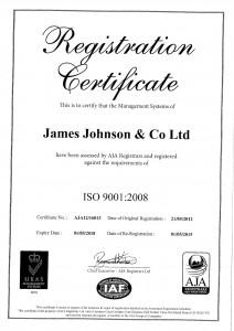 ISO 9001 Expiry Date 01-05-2018